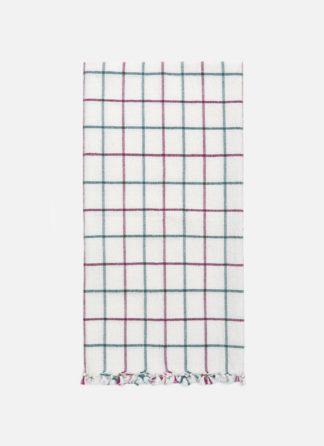Lattice Crimson Tea Towel