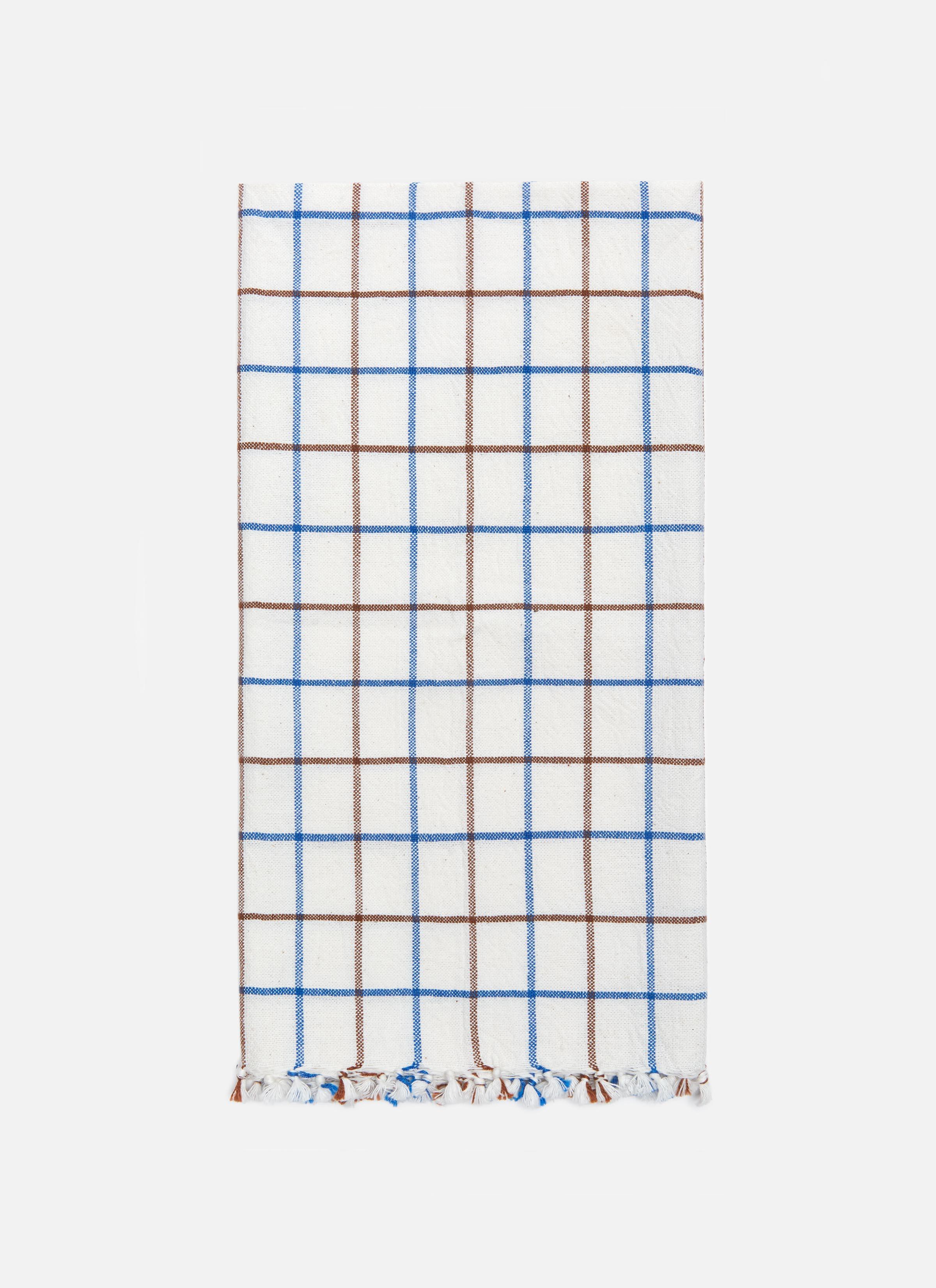 Lattice Cobalt Tea Towel Heather Taylor Home