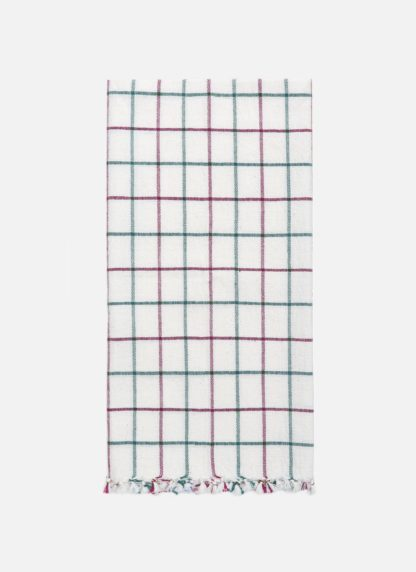 Lattice Crimson Tea Towel