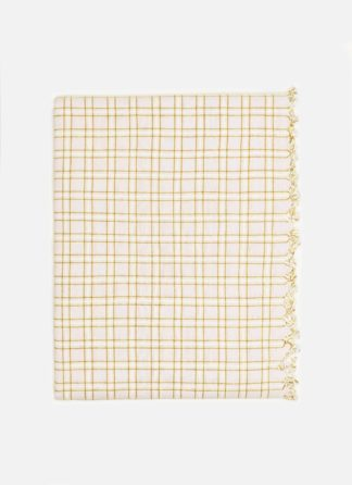 Open Plaid Goldenrod Tablecloth