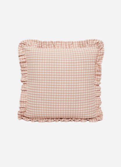MINI GINGHAM Blush Pillow Small