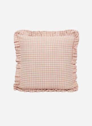 MINI GINGHAM Blush Pillow Small