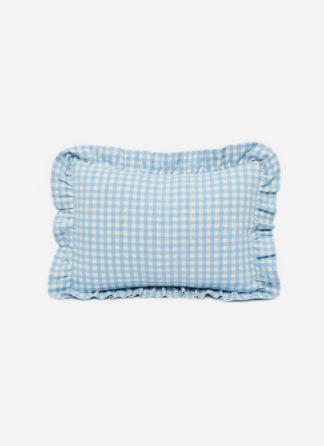 MINI GINGHAM Baby Blue Pillow Petite