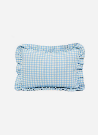 MINI GINGHAM Baby Blue Pillow Petite
