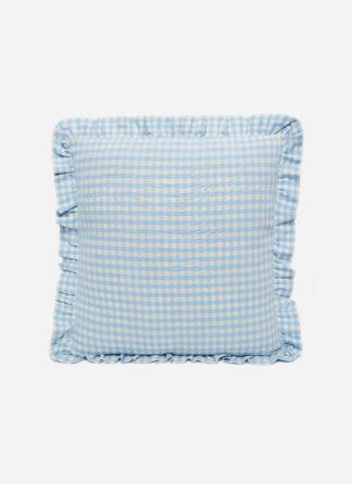 MINI GINGHAM Baby Blue Pillow