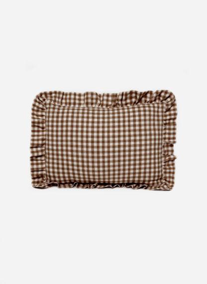 MINI GINGHAM Nutmeg Pillow Petite