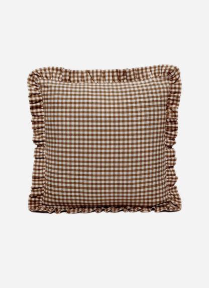 MINI GINGHAM Nutmeg Pillow Small