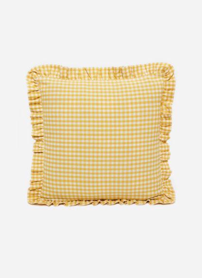 MINI GINGHAM Sunflower Pillow Small