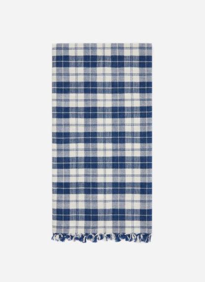 Harbor Plaid Blue Tea Towel