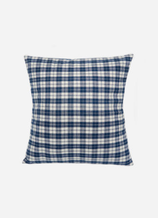 Harbor Plaid Blue Pillow