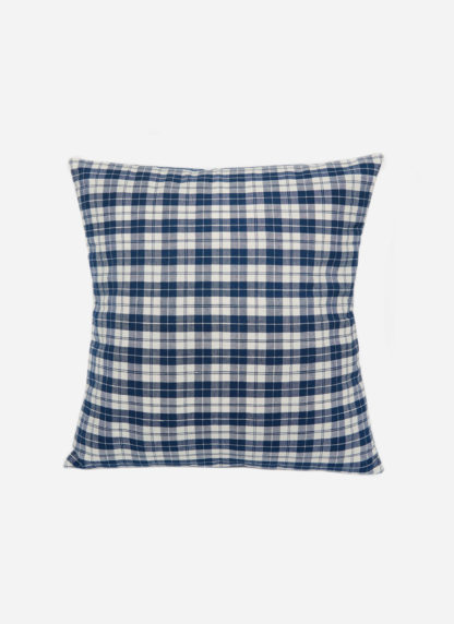 Harbor Plaid Blue Pillow