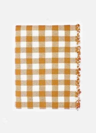 GINGHAM Goldenrod Tablecloth