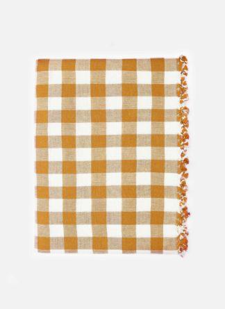 GINGHAM Goldenrod Tablecloth