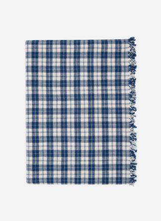 Harbor Plaid Blue Tablecloth