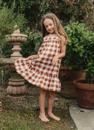 HTH x Dôen GINGHAM NUTMEG - Little Eve Dress