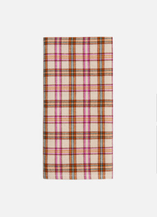 hth x doen austen plaid set of four napkins