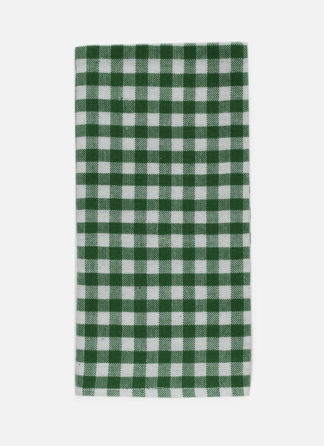 mini gingham green napkin