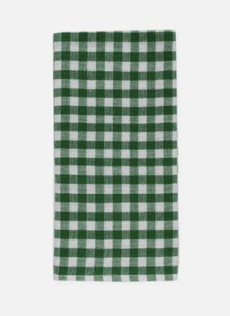 mini gingham green napkin