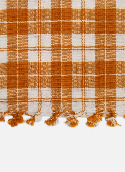 GOLDEN PLAID TEA TOWEL