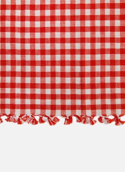 MINI GINGHAM PERSIMMON TEA TOWEL