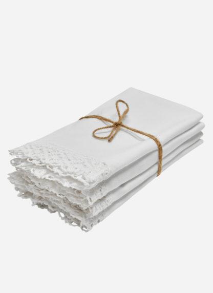 white lace napkins