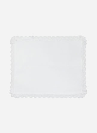 white lace placemat