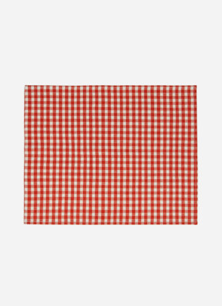 PERSIMMON MINI GINGHAM PLACEMAT