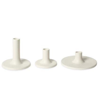 white candlestick holder