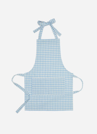 MINI GINGHAM BLUE KID APRON