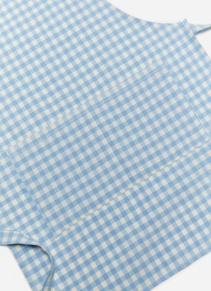 MINI GINGHAM BLUE KID APRON