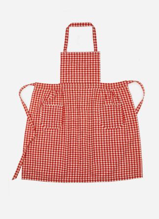 MINI GINGHAM PERSIMMON APRON
