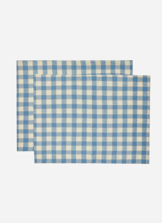 PILLOW SHAMS IN GINGHAM BLUEBELL