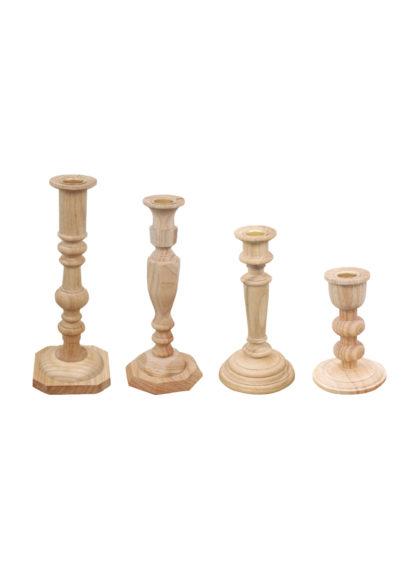 Wooden Candlesticks