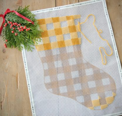 GOLDENROD STOCKING NEEDLE POINT
