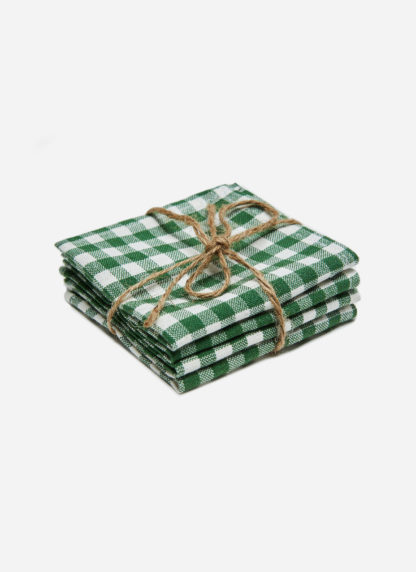 MINI GINGHAM HUNTER KID NAPKINS