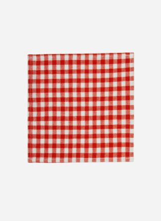 MINI GINGHAM PERSIMMON KID NAPKINS