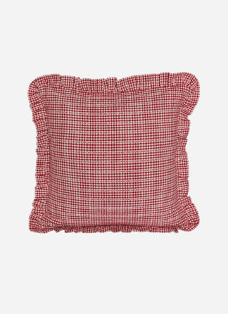 SOHO RED RUFFLE PILLOW