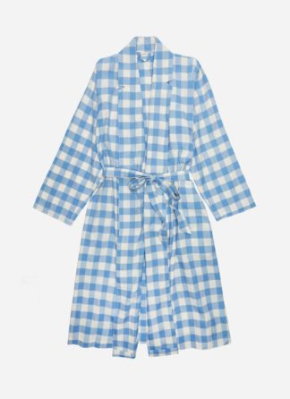 GINGHAM BLUE ROBE