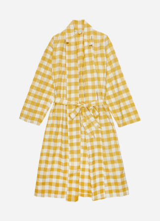 SUNFLOWER GINGHAM ROBE