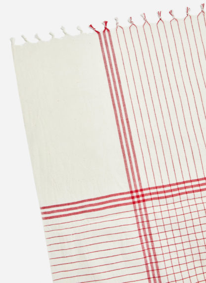 FRENCH LATTICE RED TABLECLOTH