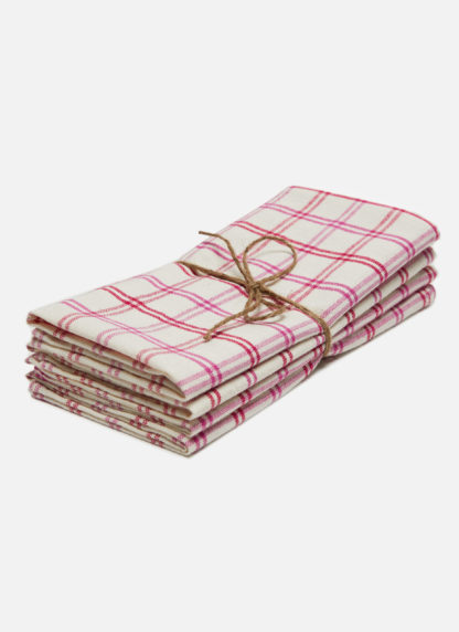 mayfair plaid valentine napkins