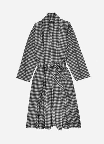 mini gingham black robe