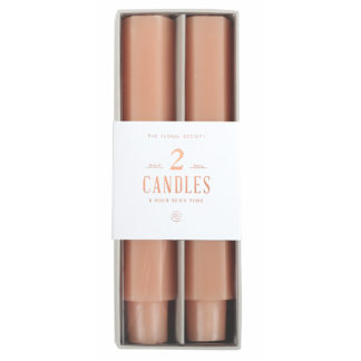 6 petal pink taper candles