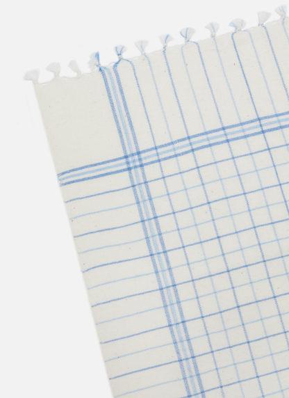 French Lattice Blue Tea Towel