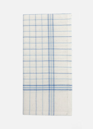 french lattice blue napkins