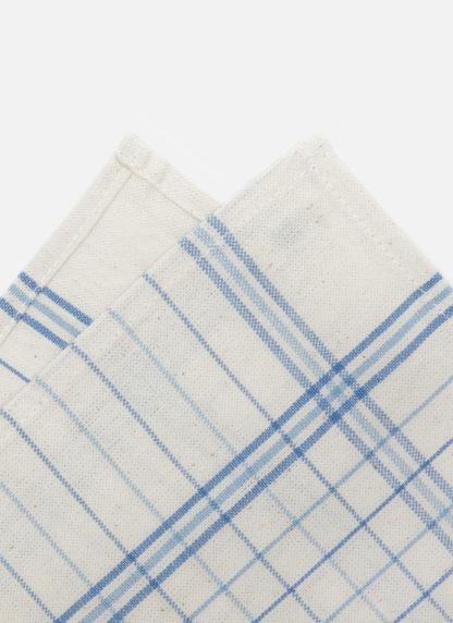 french lattice blue napkins