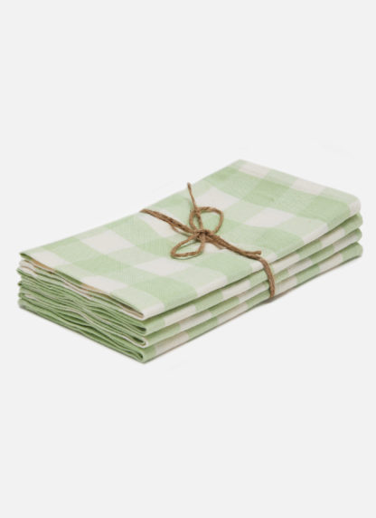 gingham honeydew napkins
