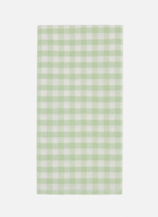 mini gingham honeydew napkins