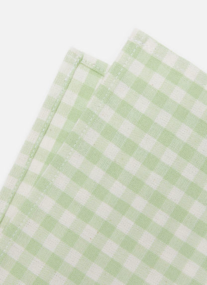 mini gingham honeydew napkins