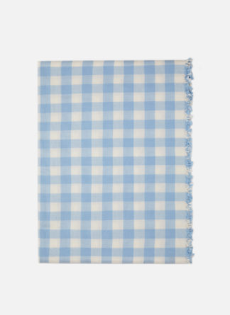 GINGHAM BABY BLUE TABLECLOTH